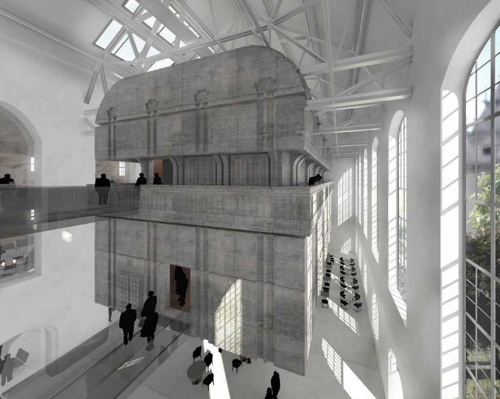 Perspektive schwebende Skulptur Marinehaus inFABric