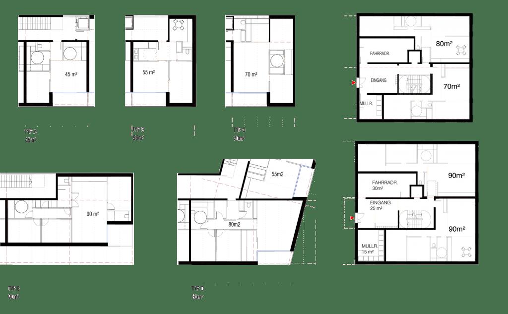 Eichhof Grundrisse Wohnungen