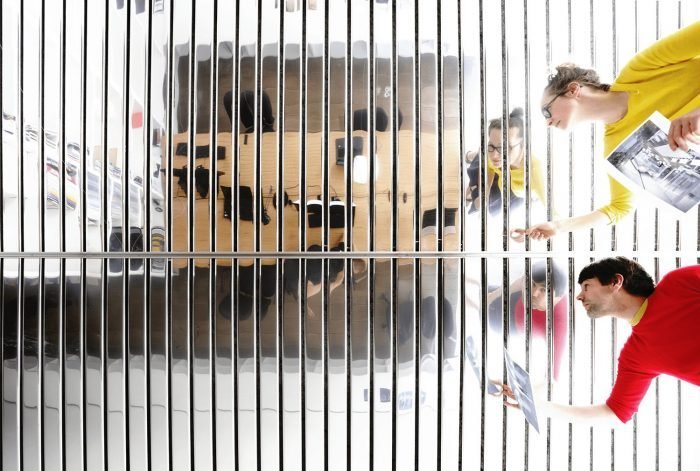 A person in a cage