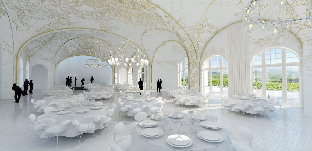 inFABric Cobenzl ball room interior design castle
