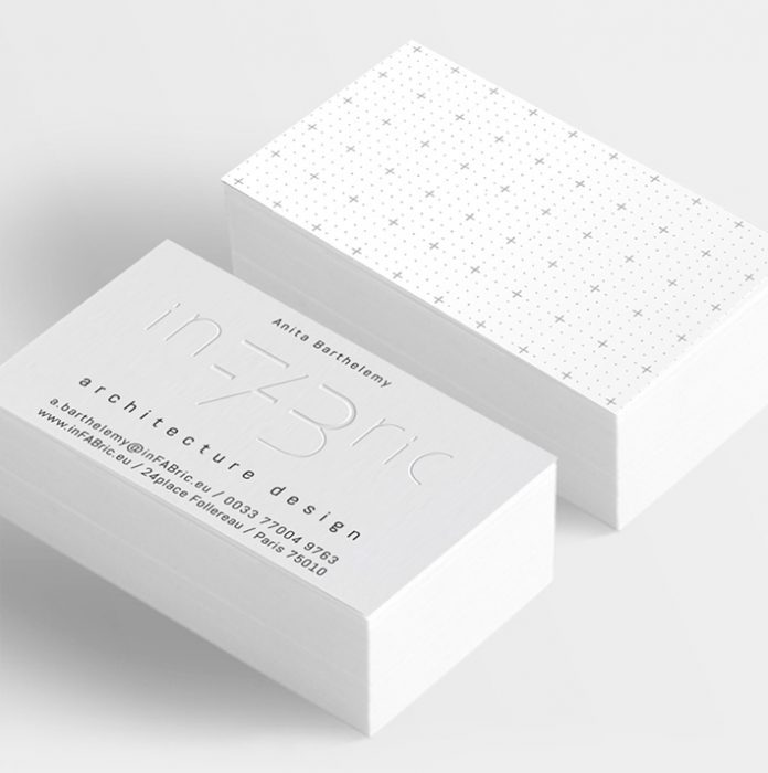 inFABric business cards axonometry graphic design