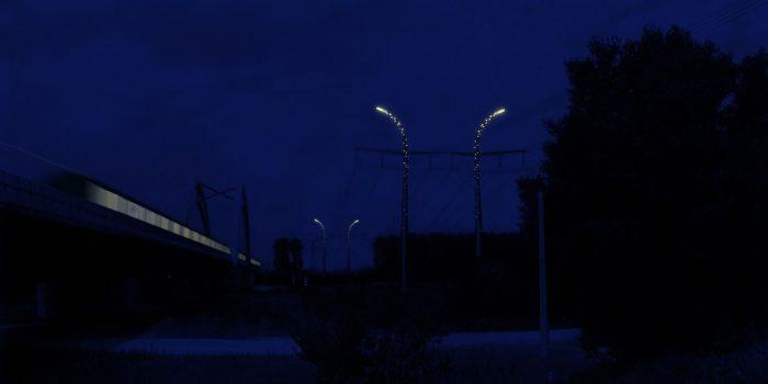 poteau nuit